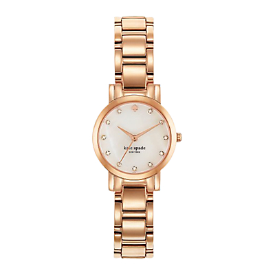 kate spade new york 1YRU0191 Women's Gramercy Mini Bracelet Strap Watch, Rose Gold/White