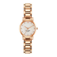Buy kate spade new york 1YRU0191 Women's Gramercy Mini Bracelet Strap Watch, Rose Gold/White Online at johnlewis.com