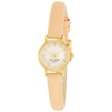 Buy kate spade new york 1YRU0 Women's Metro Mini Stainless Steel Leather Strap Watch Online at johnlewis.com