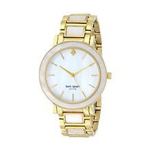 Buy kate spade new york 1YRU0394 Women's Gramercy Grand Watch, Gold / Mother of Pearl Online at johnlewis.com