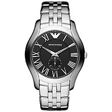 Buy Emporio Armani AR1786 Men's Classic Chronograph Stainless Steel Watch, Black Online at johnlewis.com