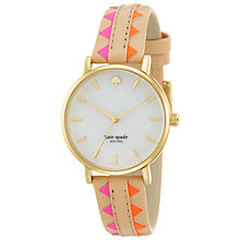 Buy kate spade new york 1YRU0503 Women's Metro Aztec Watch Online at johnlewis.com