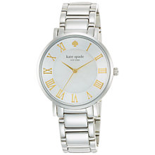 Buy kate spade new york 1YRU0476 Women's Gramercy Grand Watch, Silver Online at johnlewis.com