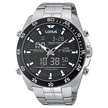 Buy Lorus Rw611ax9 Men's Black Dial Bracelet Strap Watch, Silver Online at johnlewis.com