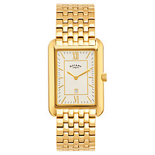 Buy Rotary GB02690/03 Gent's Madison Gold Bracelet Watch, Gold Online at johnlewis.com