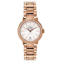 Buy Rotary Lb90085/02l Women's Lucerne Rose Gold Plated Bracelet Strap Watch Online at johnlewis.com