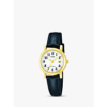 Buy Lorus RH764AX9 Women's Leather Strap Watch, Black/White Online at johnlewis.com