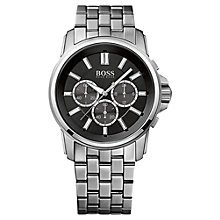 Buy BOSS 1513046 Men's Original Chronograph Stainless Steel Watch, Black / Silver Online at johnlewis.com