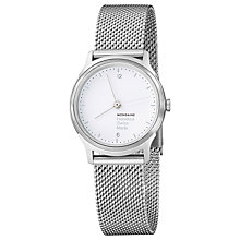 Buy Mondaine Mh1.l1110.sm Unisex Helvetica Mesh Strap Watch Online at johnlewis.com