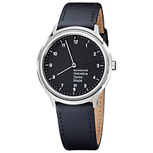 Buy Mondaine Unisex Helvetica Leather Strap Watch Online at johnlewis.com