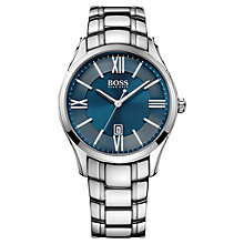 Buy BOSS Men's Ambassador Analogue Stainless Steel Watch Online at johnlewis.com