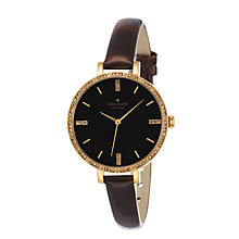 Buy kate spade new york 1YRU0592 Women's Metro Skinny Patent Leather Strap Watch, Brown Online at johnlewis.com