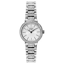 Buy Rotary Lb90081/02 Women's Lucerne Silver Bracelet Strap Watch Online at johnlewis.com