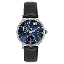 Buy Rotary Gs90085/05 Gent's Big Date Watch, Black Online at johnlewis.com