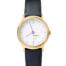 Buy Mondaine MH1.L1111.LB Unisex Helvetica Leather Strap Watch, Black Online at johnlewis.com