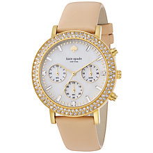 Buy kate spade new york 1YRU0606 Metro Grand Chronograph Glitz Watch, Nude Online at johnlewis.com