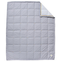Buy John Lewis Stripe Quilt, Grey Online at johnlewis.com