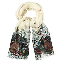 Buy White Stuff Grouse Print Wool Scarf, Off White Online at johnlewis.com