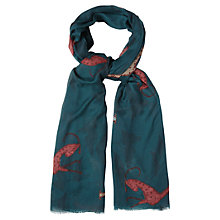 Buy White Stuff Bells and Whistle Scarf, Privet Green Online at johnlewis.com