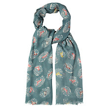Buy White Stuff Secret Birdy Scarf, Privet Green Online at johnlewis.com