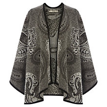 Buy Oasis Paisley Jacquard Wrap, Black/White Online at johnlewis.com