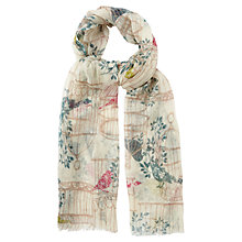 Buy White Stuff Wool Birdcage Scarf, Off White Online at johnlewis.com