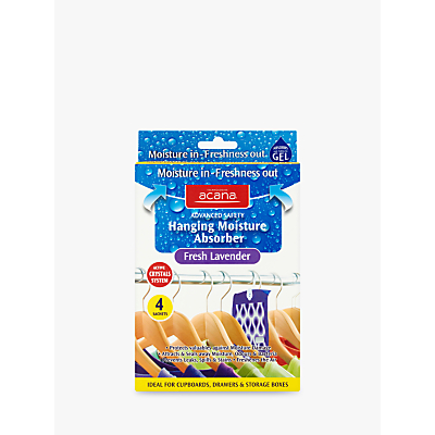 Image of Acana Hanging Wardrobe Moisture Absorber Sachets, Pack of 4