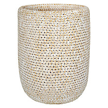 Buy John Lewis Fusion Whitewashed Wastepaper Basket Online at johnlewis.com