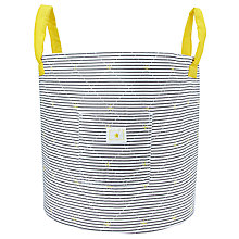 Buy John Lewis Striped Nursery Storage Bag, Grey/Yellow Online at johnlewis.com