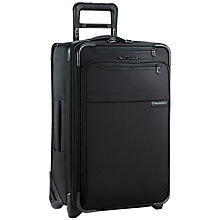 Buy Briggs & Riley Baseline Carry-on Expandable 2-Wheel Cabin Suitcase, Black Online at johnlewis.com
