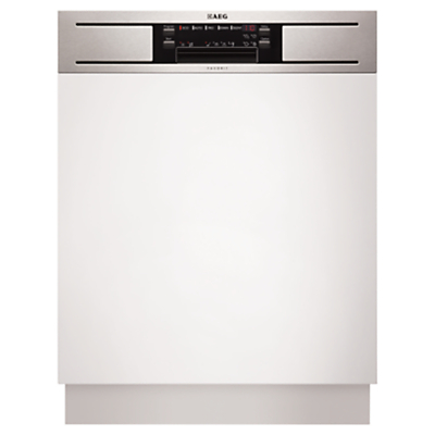 AEG F65610IM0P Semi-Integrated Dishwasher, Stainless Steel