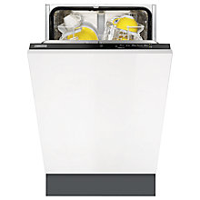 Buy Zanussi ZDV12002FA Slimline Integrated Dishwasher Online at johnlewis.com