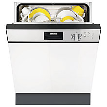 Buy Zanussi ZDI12010XA Semi-Integrated Dishwasher Online at johnlewis.com