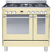 Buy John Lewis JLRC908 Dual Fuel Range Cooker, Cream Online at johnlewis.com