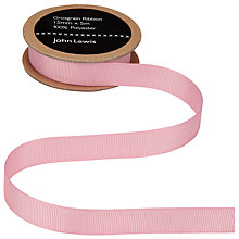 Buy John Lewis Grosgrain Ribbon, 15mm, Dusky Pink Online at johnlewis.com