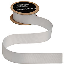 Buy John Lewis Grosgrain Ribbon, 25mm, Oyster Grey Online at johnlewis.com