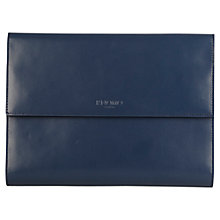 "Buy Knomo Knomad Mini Leather, Portable Organiser for Tablets up to 8"", Blue Online at johnlewis.com"