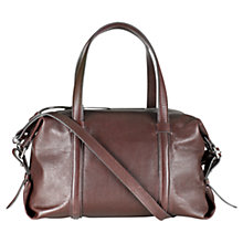 Buy Jigsaw Leather Bowling Bag Online at johnlewis.com
