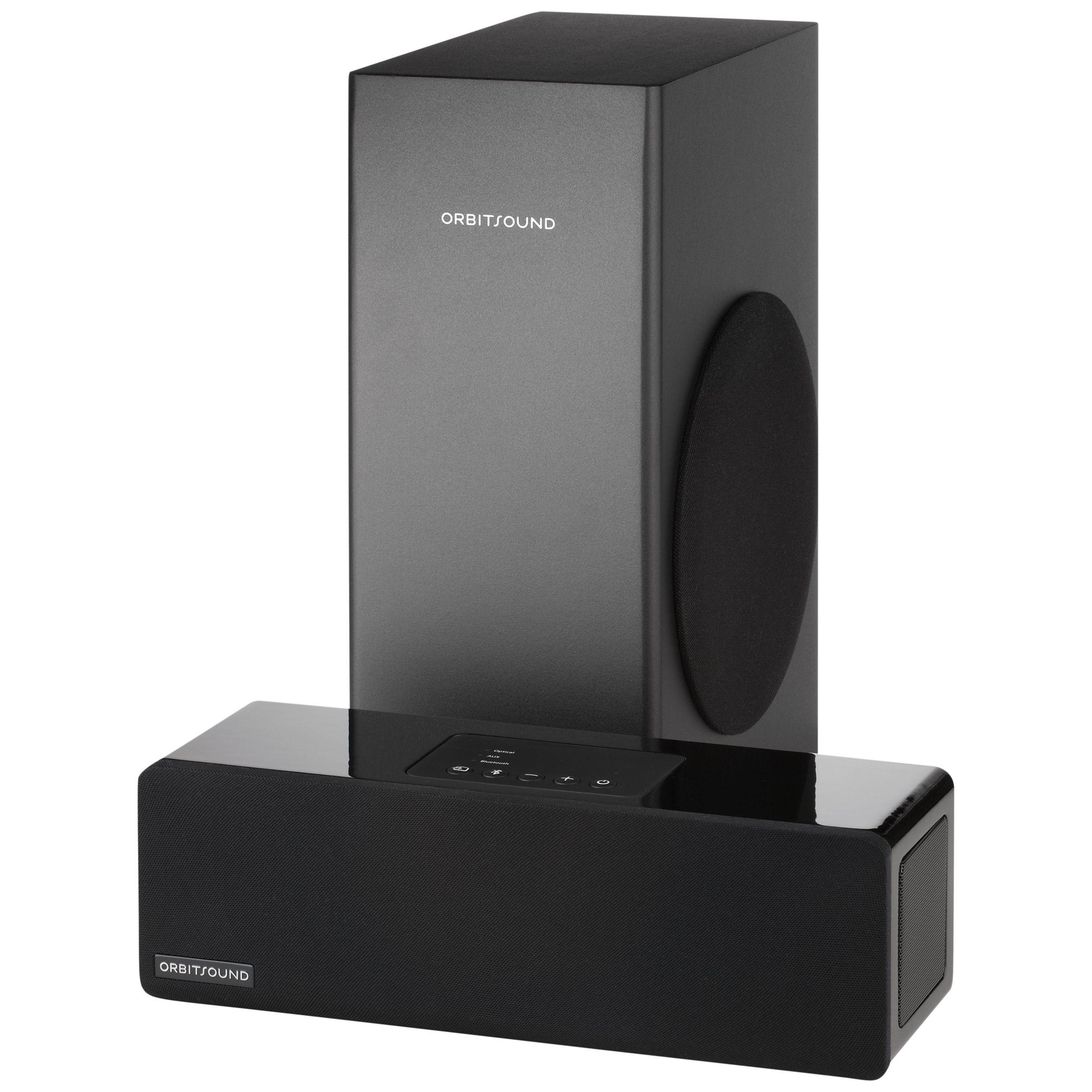 Orbitsound Orbitsound M9LX Bluetooth Sound Bar with Wired Subwoofer, Piano Black