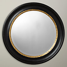 Buy John Lewis Circle Mirror, Black/Gold, Dia.68cm Online at johnlewis.com