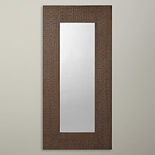 Buy John Lewis Fusion Detail Mirror, Grey, 73.1 x 151.8cm Online at johnlewis.com