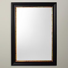 Buy John Lewis Rectangle Wood Mirror, Black/Gold, 102 x 72cm Online at johnlewis.com