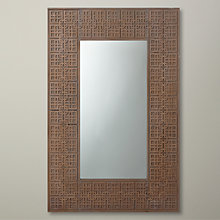 Buy John Lewis Fusion Detail Mirror, Grey, 73.1 x 112.5cm Online at johnlewis.com