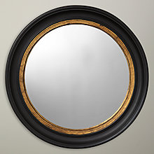 Buy John Lewis Circle Convex Mirror, Black/Gold, Dia.47cm Online at johnlewis.com