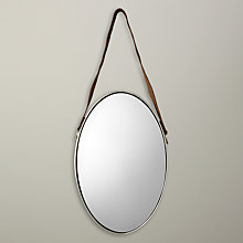 Buy John Lewis Oval Hanging Mirror with Strap, Nickle Online at johnlewis.com