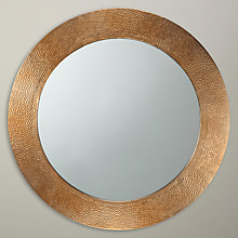 Buy John Lewis Fusion Hammered Brass Mirror, Round Online at johnlewis.com