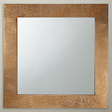 Buy John Lewis Fusion Hammered Brass Mirror, Square Online at johnlewis.com