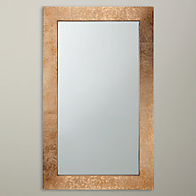 Buy John Lewis Fusion Hammered Brass Mirror, Rectangle Online at johnlewis.com