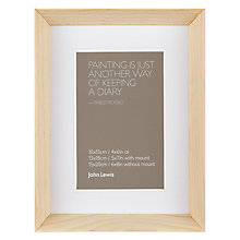 "Buy John Lewis Colour Theory Scandi Photo Frame, 4 x 6"" (10 x 15cm) Online at johnlewis.com"