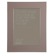 "Buy John Lewis Amy Photo Frame, 5 x 7"" (13 x 18cm) Online at johnlewis.com"